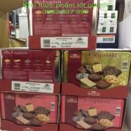 Bánh quy Lambertz Exquisit cao cấp – hộp thiếc đỏ/ vàng 750g - Xuất xứ: Đức